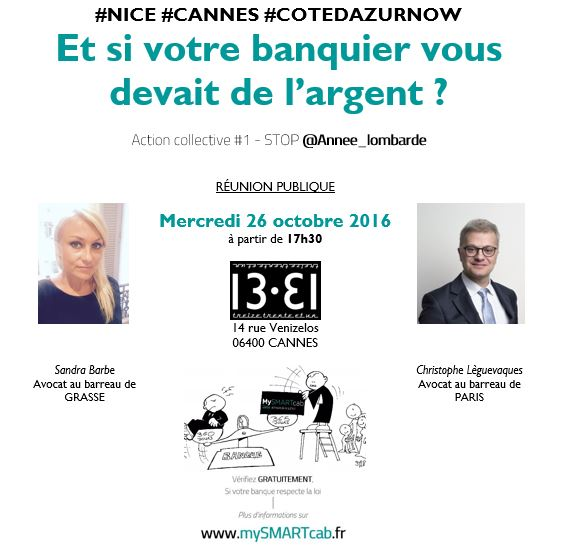 #Nice #Cannes #Grasse #Cotedazur : réunion publique d'informations mercredi 26 octobre 2016