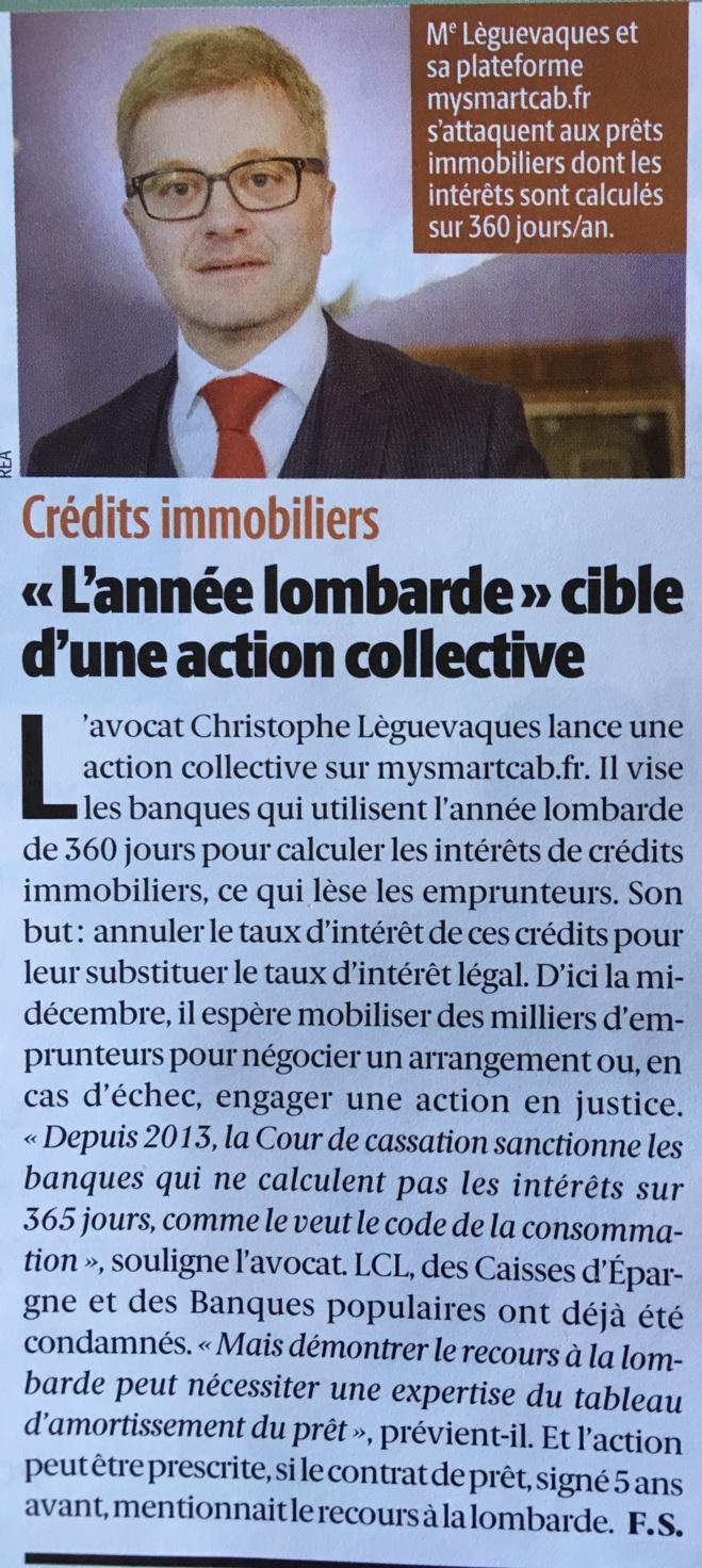 """""""Le particulier"""" consacre un article à l'action collective STOP @Annee_lombarde"""