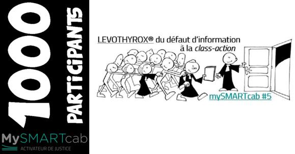 #LEVOTHYROX - 1000 inscriptions sur le site mySMARTcab depuis mardi !