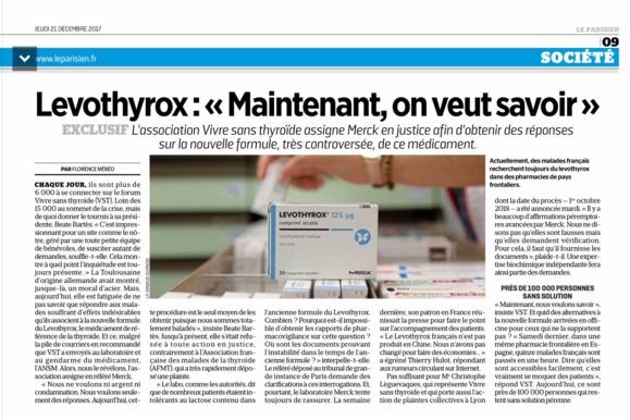 #LEVOTHYROX - le référé-expertise de VIVRE SANS THYROIDE pour comprendre...