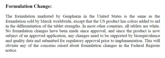 #LEVOTHYROX - REVELATIONS IN 2005, MERCK HAD EXPLAINED TO THE FDA THAT ITS LEVOTHYROXINE SODIUM MET THE 95/105% STANDARD