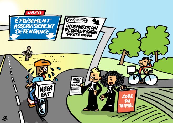 UBER Eat : MySMARTcab prépare une action collective conjointe pour protéger les livreurs à vélo
