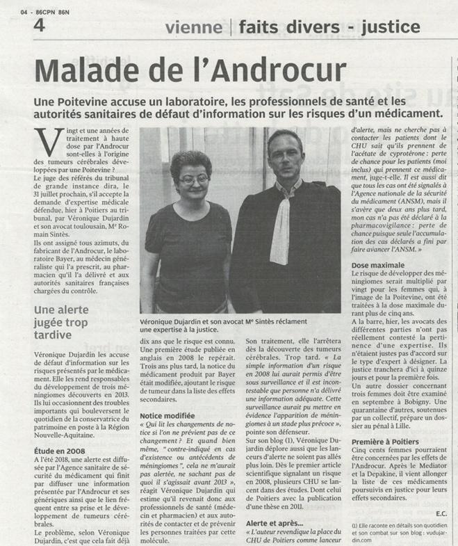 #ANDROCUR : Plaidoirie de Me Romain SINTES devant le TGI de Poitiers