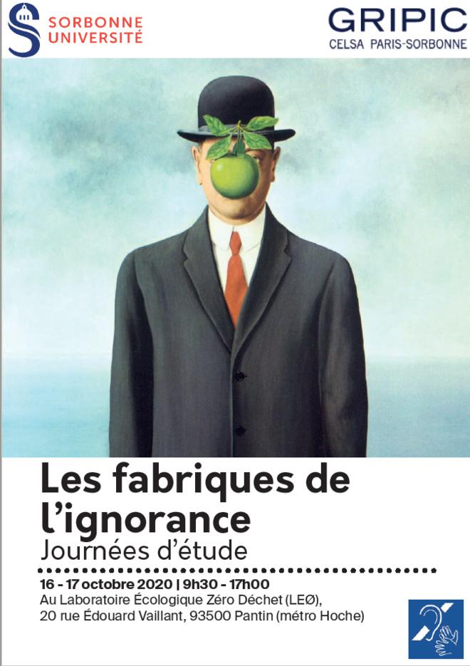 Les fabriques de l'ignorance - Journées d'études