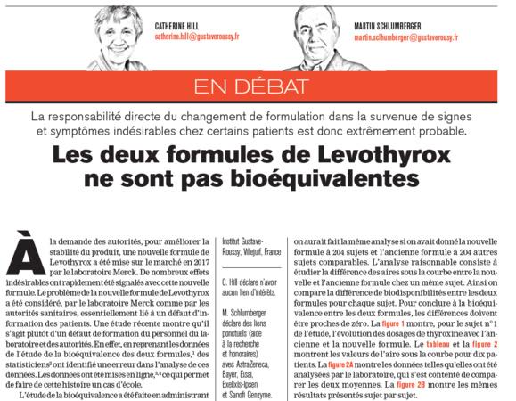 Levothyrox : ne pas confondre biéquivalence et interchangeabilité