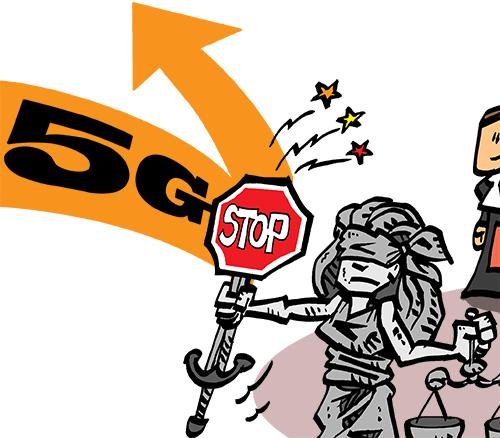 #5G  - action collective contre les enchères attribuant les fréquences