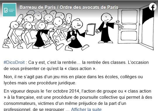 L'ordre de Paris parle des actions collectives et donc de Mysmartcab ;-)