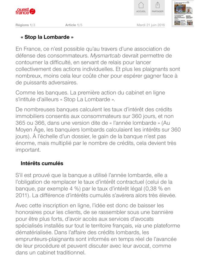 Ouest France présente mySMARTcab