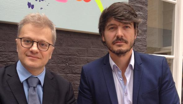 Christophe Leguevaques et Charles-André Lefebvre. (Photo La Voix du Nord)