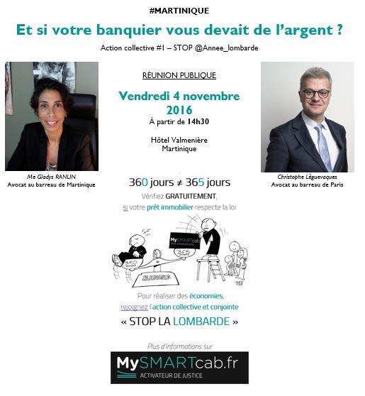 #Martinique - Réunion publique 4 novembre 2016 à 14h30