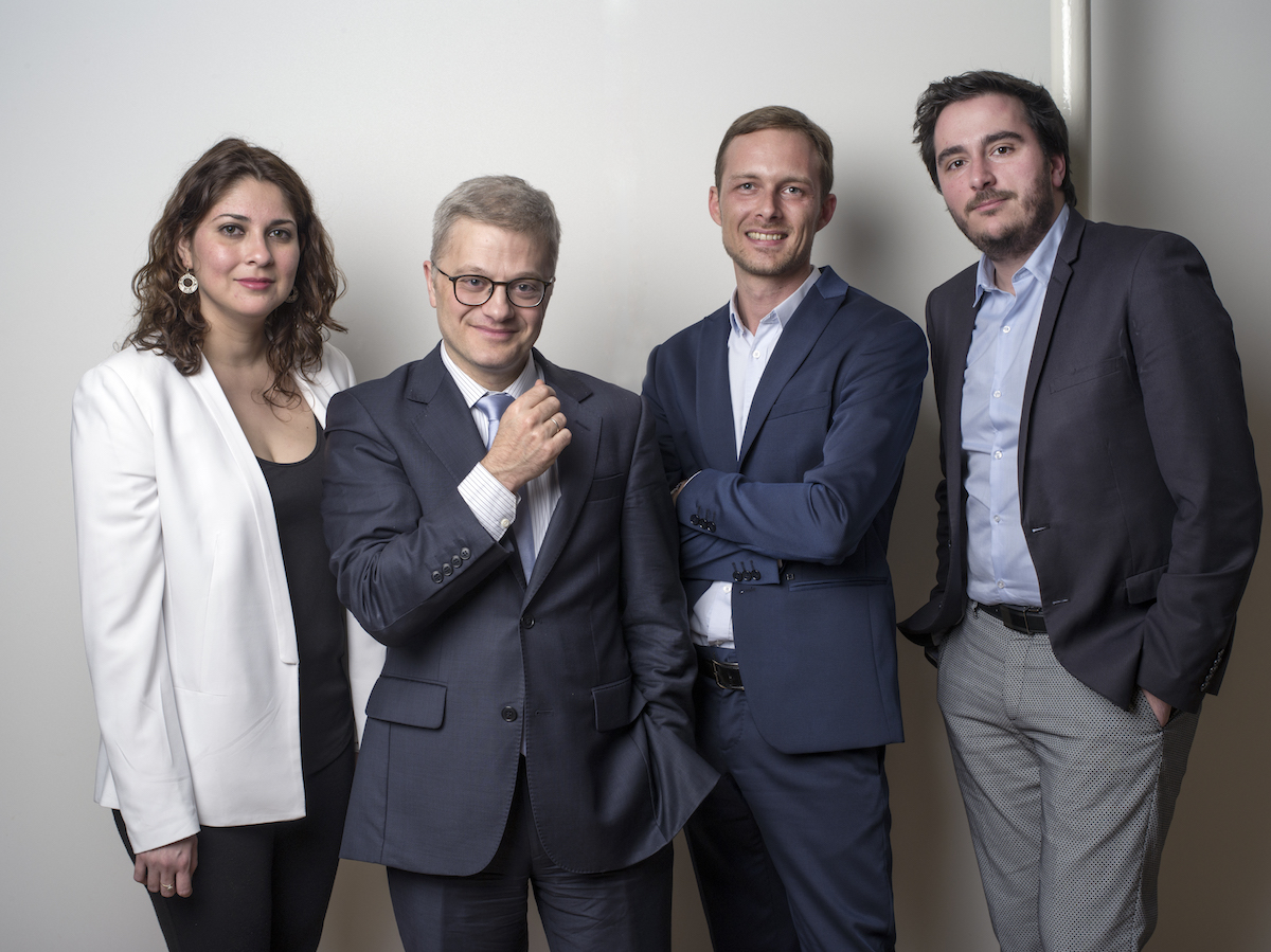 (from left to right, Me Zindia Sepulveda, Christophe Lèguevaques, Romain Sintès, Quentin Guy-Favier)