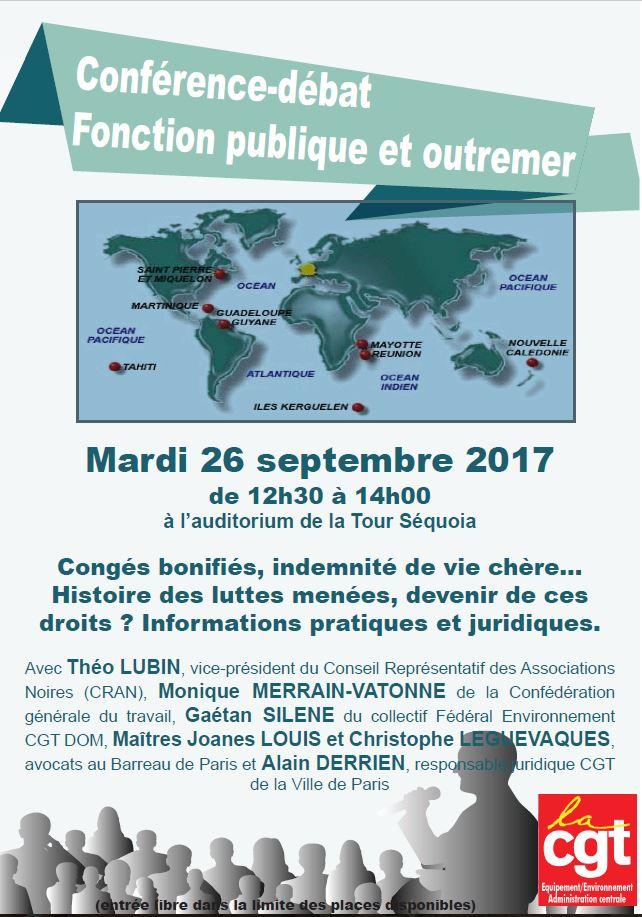 Conférence-débat : FONCTION PUBLIQUE ET OUTRE MER