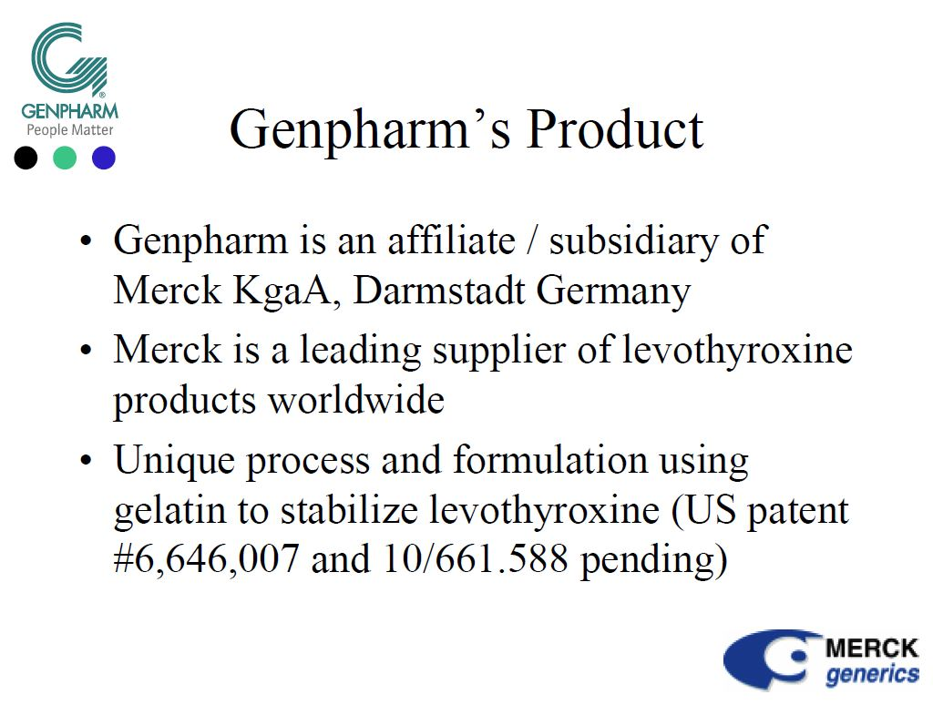 #Levothyrox - REVELATIONS en 2005, Merck expliquait à la FDA que sa levothyroxine sodique respectait la norme 95/105 %