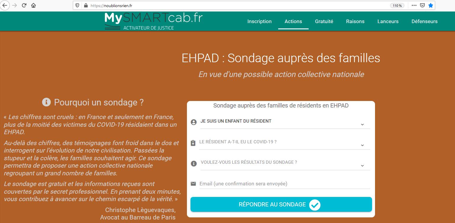 COVID19-EHPAD - Grande enquête nationale auprès des familles