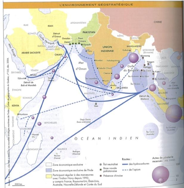 Sources : Philippe Cadène, Atlas de l'Inde, Autrement, 2008