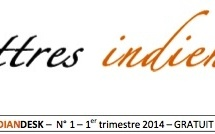 Parution du n° 1 de LETTRES INDIENNES, la newsletter de l'INDIAN DESK