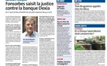 DEXIA - Prêt toxique : Fonsorbes saisit la justice